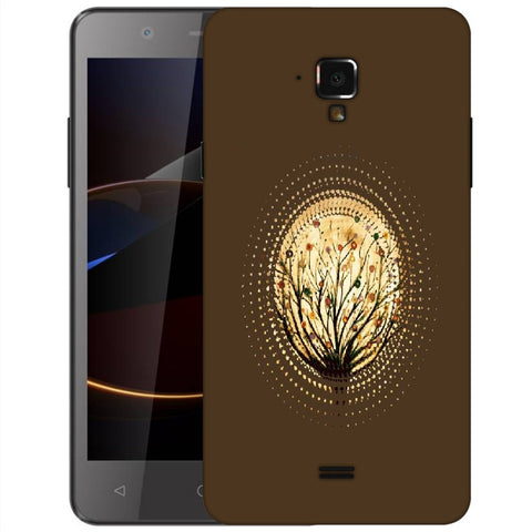 Snoogg Abstract Small Plant Designer Protective Back Case Cover For Swipe Elite 2 Plus