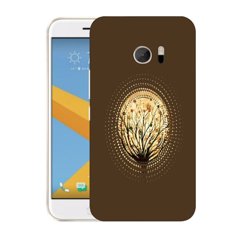 Snoogg Abstract Small Plant Designer Protective Back Case Cover For HTC Desire 10 Lifestyle