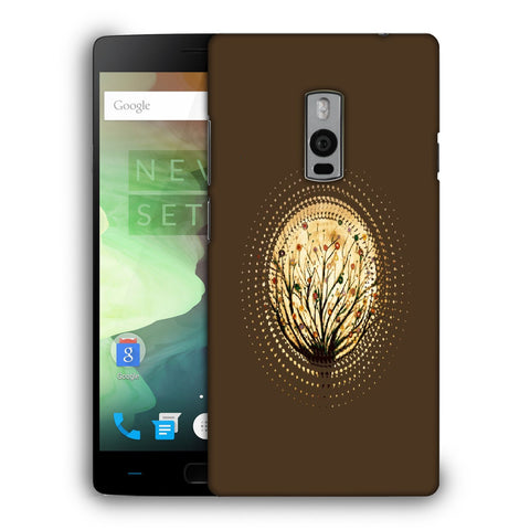 Snoogg Abstract Small Plant Designer Protective Back Case Cover For OnePlus Two