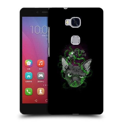 Snoogg Abstract Smelling Mouse Designer Protective Back Case Cover For Huawei Honor 5X