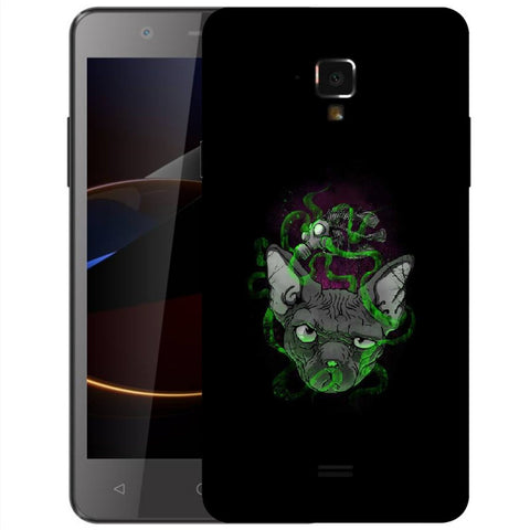 Snoogg Abstract Smelling Mouse Designer Protective Back Case Cover For Swipe Elite 2 Plus