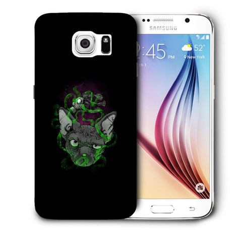 Snoogg Abstract Smelling Mouse Designer Protective Back Case Cover For Samsung Galaxy S6