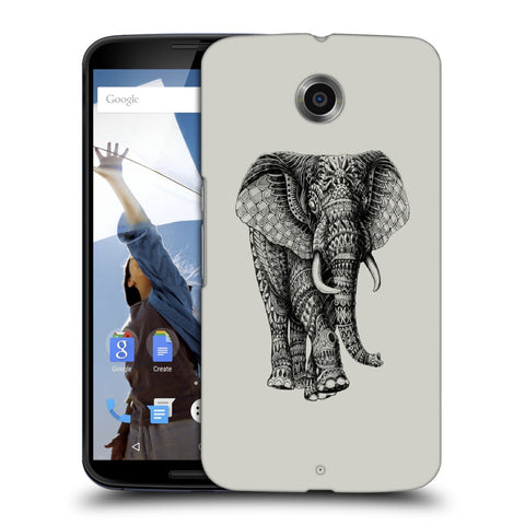 Snoogg Abstract Elephant Designer Protective Back Case Cover For Motorola Nexus 6
