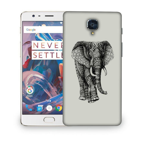 Snoogg Abstract Elephant Designer Protective Back Case Cover For ONEPLUS 3T