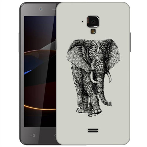 Snoogg Abstract Elephant Designer Protective Back Case Cover For Swipe Elite 2 Plus