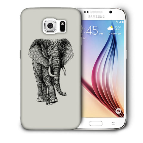 Snoogg Abstract Elephant Designer Protective Back Case Cover For Samsung Galaxy S6