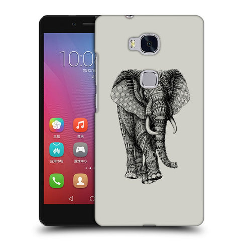 Snoogg Abstract Elephant Designer Protective Back Case Cover For Huawei Honor 5X