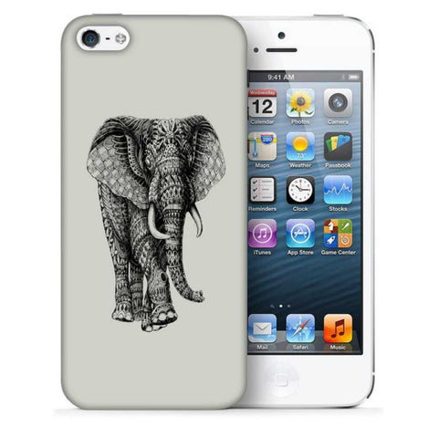 Snoogg Abstract Elephant Designer Protective Back Case Cover For Apple Iphone SE