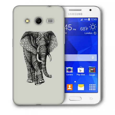 Snoogg Abstract Elephant Designer Protective Back Case Cover For Samsung Galaxy Core 2