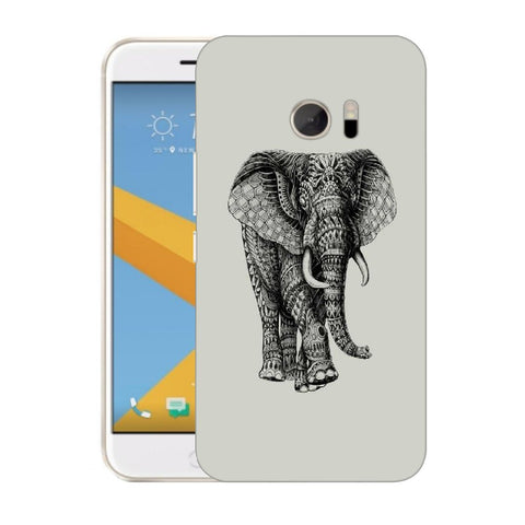 Snoogg Abstract Elephant Designer Protective Back Case Cover For HTC Desire 10 Lifestyle