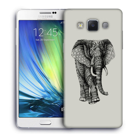 Snoogg Abstract Elephant Designer Protective Back Case Cover For Samsung Galaxy A7