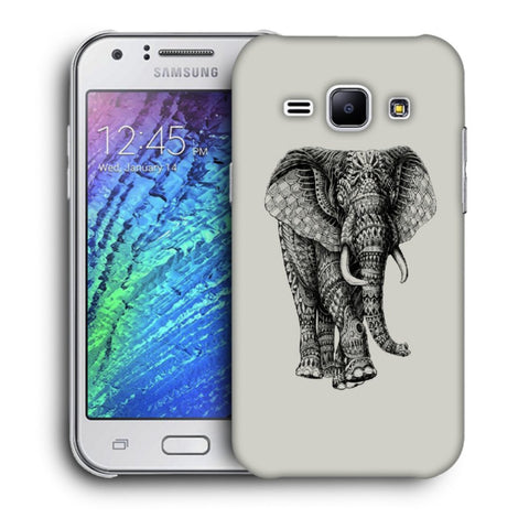 Snoogg Abstract Elephant Designer Protective Back Case Cover For Samsung Galaxy J1