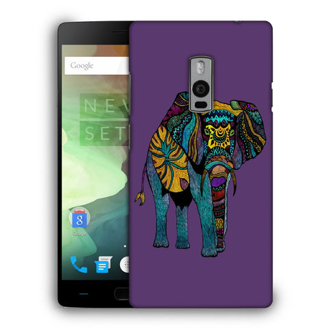 Snoogg Abstract Neon Elephant Designer Protective Back Case Cover For OnePlus Two