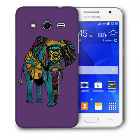 Snoogg Abstract Neon Elephant Designer Protective Back Case Cover For Samsung Galaxy Core 2