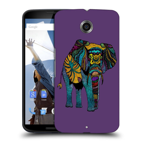 Snoogg Abstract Neon Elephant Designer Protective Back Case Cover For Motorola Nexus 6