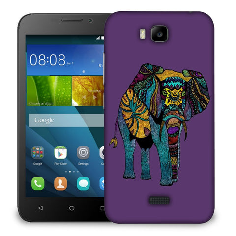 Snoogg Abstract Neon Elephant Designer Protective Back Case Cover For Huawei Honor Bee
