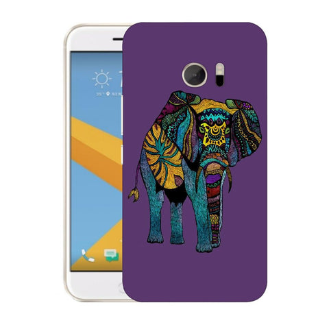 Snoogg Abstract Neon Elephant Designer Protective Back Case Cover For HTC Desire 10 Lifestyle
