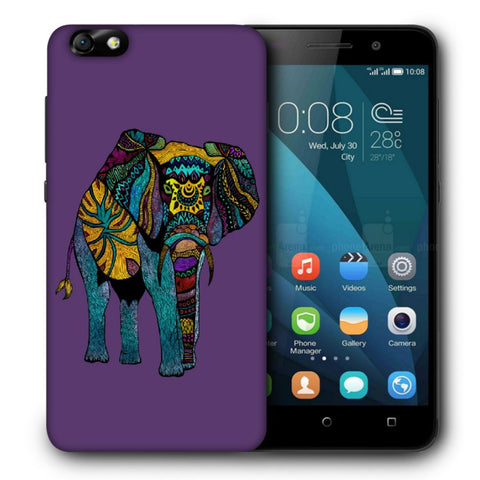 Snoogg Abstract Neon Elephant Designer Protective Back Case Cover For Huawei Honor 4X