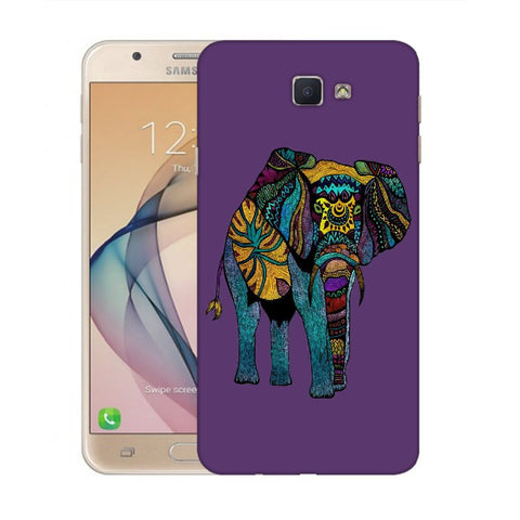 Snoogg Abstract Neon Elephant Designer Protective Back Case Cover For Samsung Galaxy On Nxt / J7 Prime