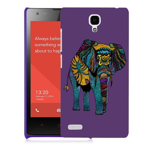 Snoogg Abstract Neon Elephant Designer Protective Back Case Cover For Xiaomi Redmi Note 2