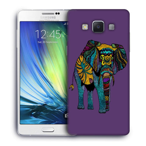 Snoogg Abstract Neon Elephant Designer Protective Back Case Cover For Samsung Galaxy A7