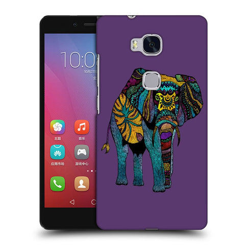 Snoogg Abstract Neon Elephant Designer Protective Back Case Cover For Huawei Honor 5X