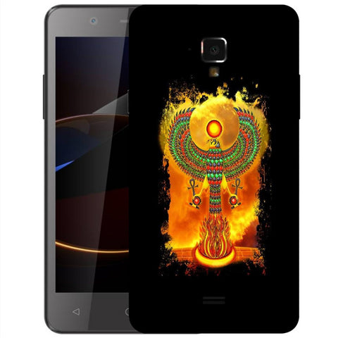 Snoogg Abstract Eagle Designer Protective Back Case Cover For Swipe Elite 2 Plus