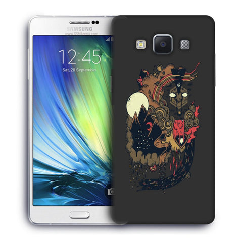 Snoogg Abstract Image Designer Protective Back Case Cover For Samsung Galaxy A7