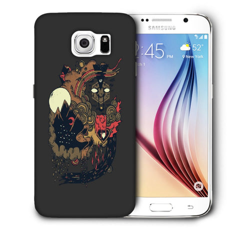 Snoogg Abstract Image Designer Protective Back Case Cover For Samsung Galaxy S6