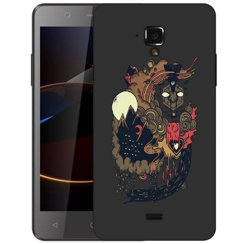 Snoogg Abstract Image Designer Protective Back Case Cover For Swipe Elite 2 Plus