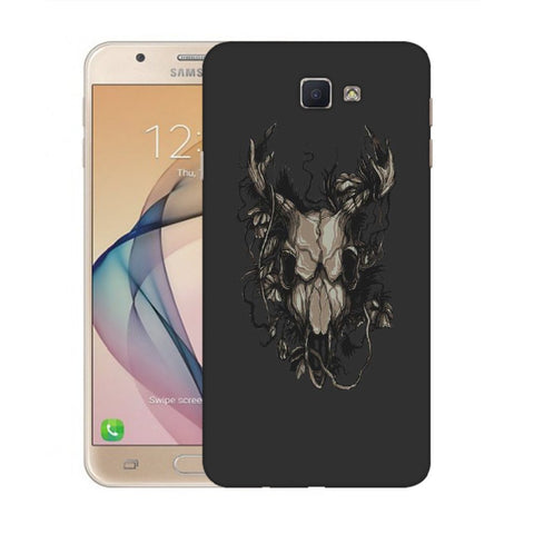 Snoogg Abstract Monster Skull Designer Protective Back Case Cover For Samsung Galaxy On Nxt / J7 Prime