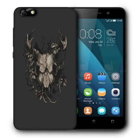 Snoogg Abstract Monster Skull Designer Protective Back Case Cover For Huawei Honor 4X