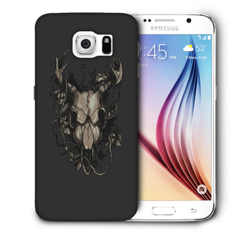 Snoogg Abstract Monster Skull Designer Protective Back Case Cover For Samsung Galaxy S6