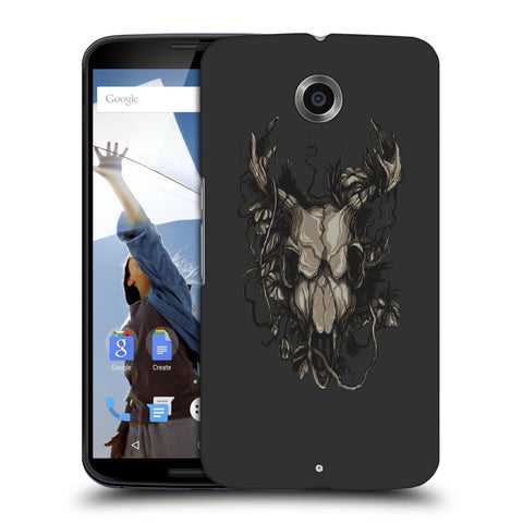 Snoogg Abstract Monster Skull Designer Protective Back Case Cover For Motorola Nexus 6
