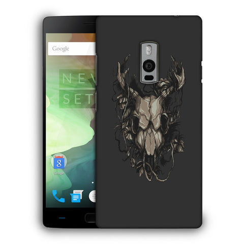 Snoogg Abstract Monster Skull Designer Protective Back Case Cover For OnePlus Two