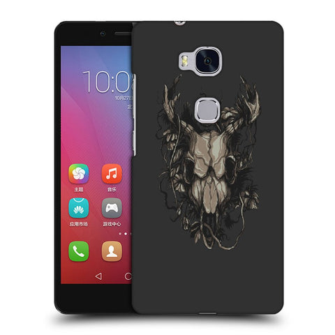 Snoogg Abstract Monster Skull Designer Protective Back Case Cover For Huawei Honor 5X