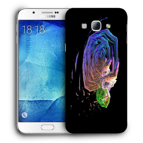 Snoogg Abstract Roses Designer Protective Back Case Cover For Samsung Galaxy A8