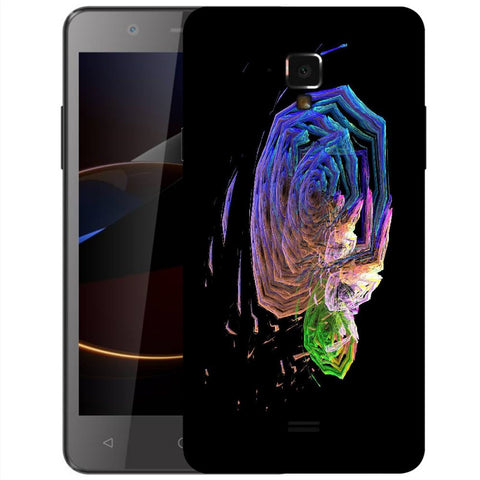Snoogg Abstract Roses Designer Protective Back Case Cover For Swipe Elite 2 Plus