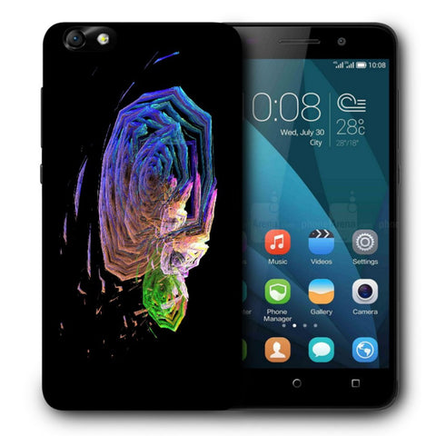 Snoogg Abstract Roses Designer Protective Back Case Cover For Huawei Honor 4X