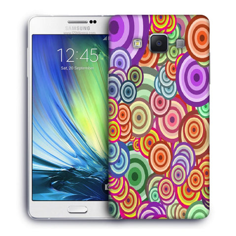 Snoogg Abstract Colorful Bubbles Designer Protective Back Case Cover For Samsung Galaxy A7