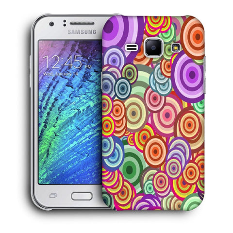 Snoogg Abstract Colorful Bubbles Designer Protective Back Case Cover For Samsung Galaxy J1