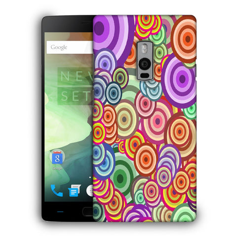 Snoogg Abstract Colorful Bubbles Designer Protective Back Case Cover For OnePlus Two