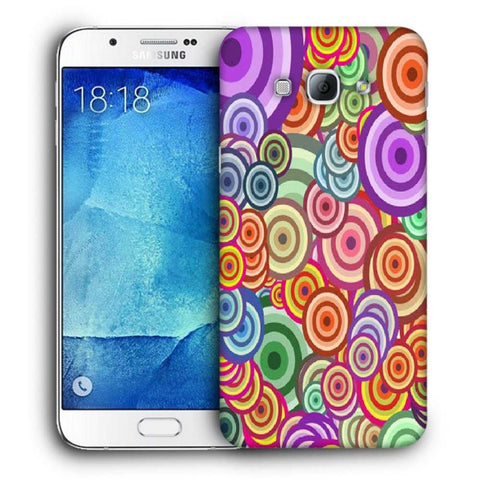 Snoogg Abstract Colorful Bubbles Designer Protective Back Case Cover For Samsung Galaxy A8