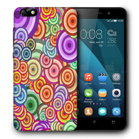 Snoogg Abstract Colorful Bubbles Designer Protective Back Case Cover For Huawei Honor 4X