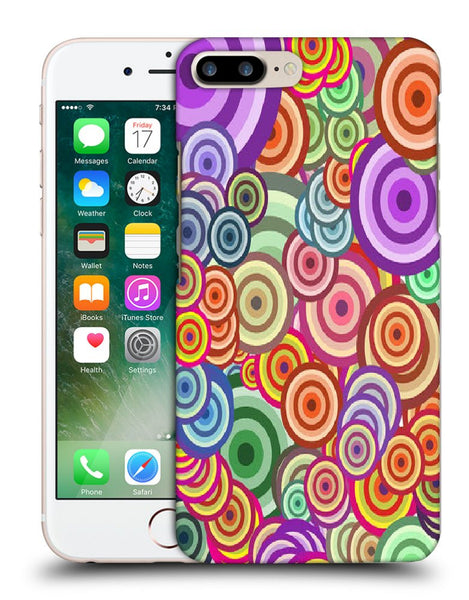 Snoogg Abstract Colorful Bubbles Designer Protective Back Case Cover For Apple Iphone 7 Plus