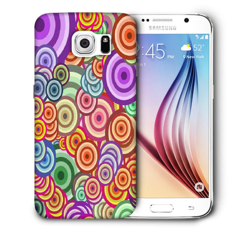Snoogg Abstract Colorful Bubbles Designer Protective Back Case Cover For Samsung Galaxy S6