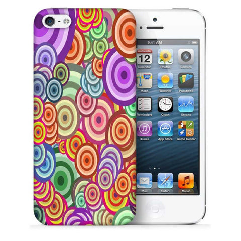 Snoogg Abstract Colorful Bubbles Designer Protective Back Case Cover For Apple Iphone SE