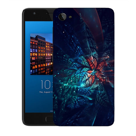 Snoogg Abstract Blue And Orange Floral Designer Protective Back Case Cover For Lenovo Zuk Z2