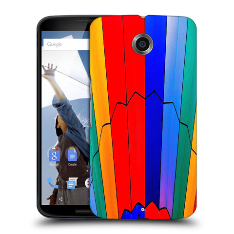 Snoogg Abstract Colors Designer Protective Back Case Cover For Motorola Nexus 6