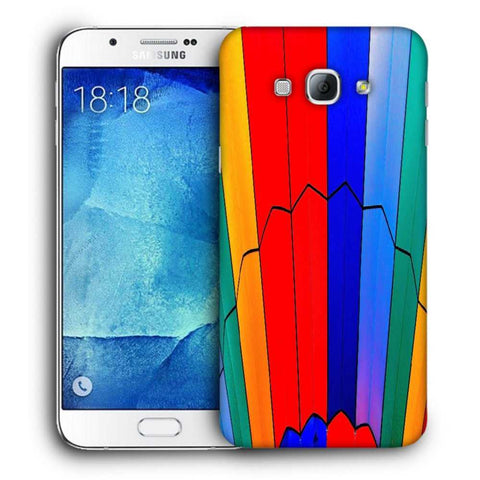 Snoogg Abstract Colors Designer Protective Back Case Cover For Samsung Galaxy A8